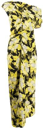 colville Floral Print Asymmetric Dress