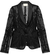 Alexis Aline Guipure Lace And Satin Jacket
