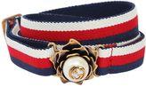 Gucci 20mm Elastic Web Belt W/ Imitation Pearl