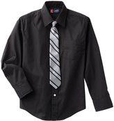 Chaps Boys 8-20 Button-Down Shirt & Tie Set