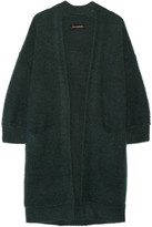 By Malene Birger Rinorra Oversized Brushed Stretch-knit Cardigan - Emerald