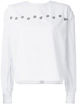 Jupe By Jackie pinstriped blouse