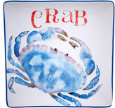 Certified International Beach House Kitchen Crab Square Platter