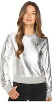 Love Moschino Metallic Crew Neck Women's Long Sleeve Pullover