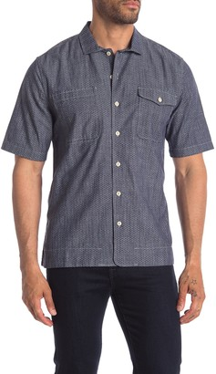 Jeremiah Merrick Regular Fit Chambray Short Sleeve Shirt