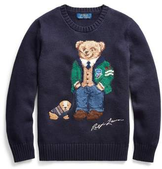 Ralph Lauren Polo Bear Cotton-Wool Jumper
