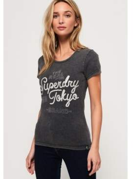 Superdry Tokyo Brand Sequin T-Shirt