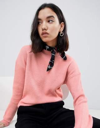 Gianni Feraud boyfriend turtleneck jumper-Pink