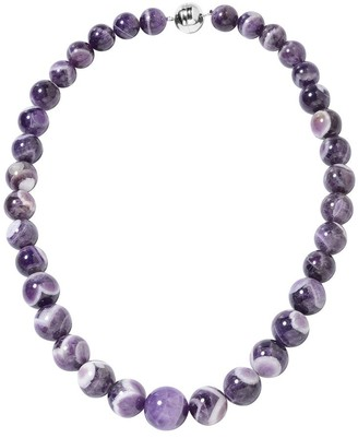 Shop Lc Silver Beads Amethyst Beaded Necklace Size 20 Inch ct 550 - Size 20''
