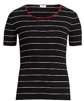 Akris Punto Women's Striped Rib-Knit Tee