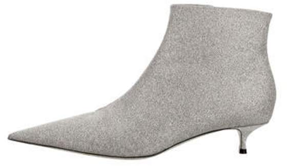99e491423f3 Glitter Ankle Boots Silver Glitter Ankle Boots