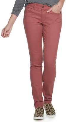 Sonoma Goods For Life Women's Midrise Curvy Fit Sateen Skinny Pants