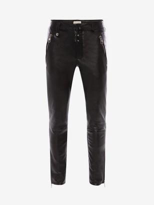 Alexander McQueen McQueen Classic Leather Biker Pants
