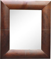 One Kings Lane Vintage Large French Leather Mirror