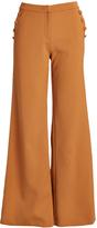 Lucy Paris Rust Side-Button Connie Wide-Leg Pants
