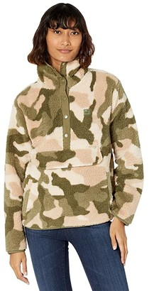 Billabong Switchback Pullover (Army Camo) Women's Clothing