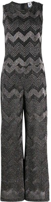 M Missoni Zig Zag Knitted Jumpsuit