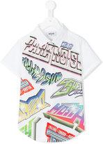 Moschino Kids - printed short sleeve shirt - kids - Cotton - 8 yrs