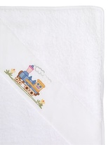 Embroidered Cotton Piqué Towel