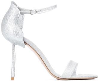 Le Silla Pole-Heel Glitter Sandals