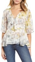 Cupcakes And Cashmere Women's Keenan Floral Blouse