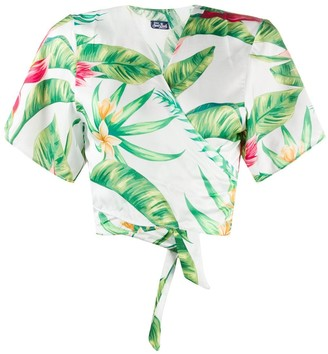 MC2 Saint Barth Floral-Print Wrap Top