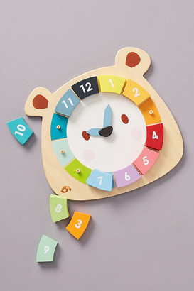 Colorful Bear Clock Toy Set By Tender Leaf Toys in Assorted Size ALL