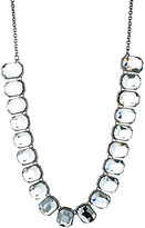 Danielle Stevens Jewelry Faceted Square Stone Necklace in Clear