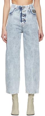 MM6 MAISON MARGIELA Blue Logo Boyfriend Jeans