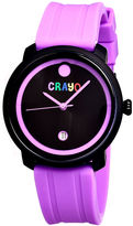 Crayo Unisex Fresh Purple Rubber-Strap Watch With Date Cracr0307