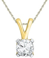 1/2 CT. T.W. White Diamond Solitaire Pendant in 10K Yellow Gold