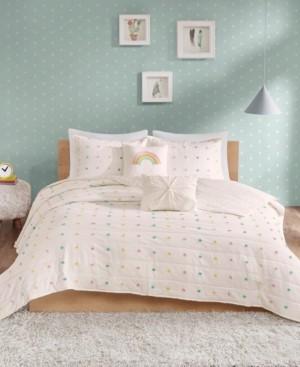 Urban Habitat Kids Callie Twin/Twin Xl 4 Piece Cotton Jacquard Pom Pom Coverlet Set Bedding