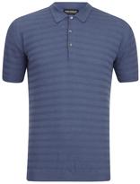 John Smedley Runkel Sea Island Cotton Polo Shirt Baltic Blue