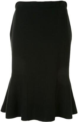 PortsPURE Ruffled Hem Midi Skirt