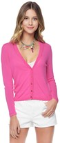Juicy Couture Placed Mesh Stitch Cardigan