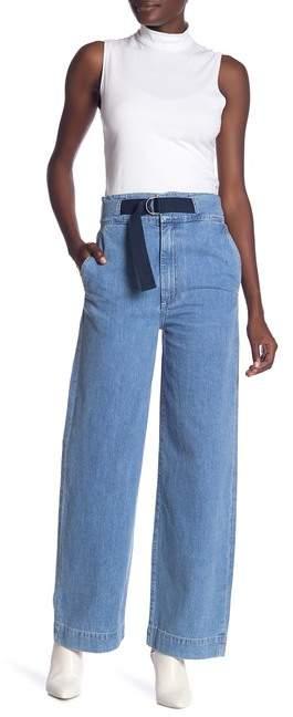 Rag & Bone Wide Leg Belted Pants