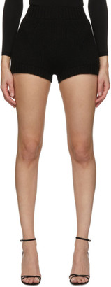 Dolce & Gabbana Black Cashmere Knit Shorts