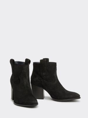 Tommy Hilfiger Suede Block Heel Cowboy Boots