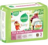 Seventh Generation B07100 Baby Free Clear Diapers Stage 3: 16-28 Lbs -4x31ct
