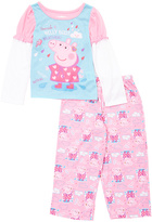 Komar Kids Pink & Blue Peppa Pig Pajama Set - Toddler