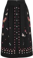 Temperley London Juniper Embroidered Crepe Skirt - UK10