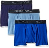 Fruit of the Loom Men's Breathable Short Leg Boxer Brief Assorted Colors (Pack of 3)