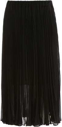 MICHAEL Michael Kors PLEATED MIDI DRESS 2 Black