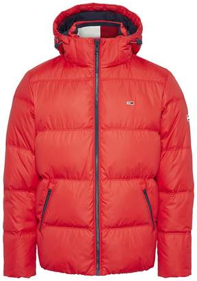 Tommy Jeans Essential Hooded Padded Puffer Jacket in Recycled Fabric