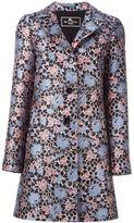 Etro floral jacquard trapeze coat
