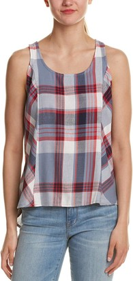Jack by BB Dakota Women's Euphrasia Soft Plaid Print Button Back Tank Top