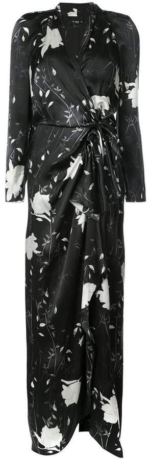 Paule Ka long floral wrap dress