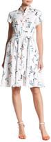 Chetta B Sailboat Fit & Flare Shirt Dress