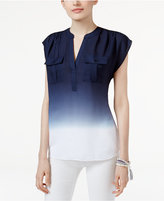 INC International Concepts Petite Dip-Dyed Utility Top, Only at Macy's
