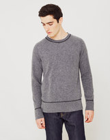 Nudie Jeans Dag Recycled Wool Knit Jumper Grey